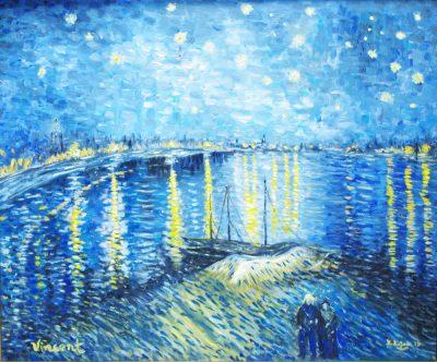 Karl Kujau Sternennacht über der Rhône Vincent van Gogh