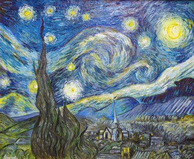Karl Kujau Sternennacht Gemälde von Vincent van Gogh