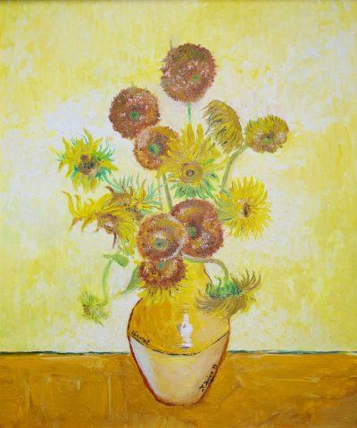 Karl Kujau Stilleben mit Sonnenblumen 1888 Vincent van Gogh