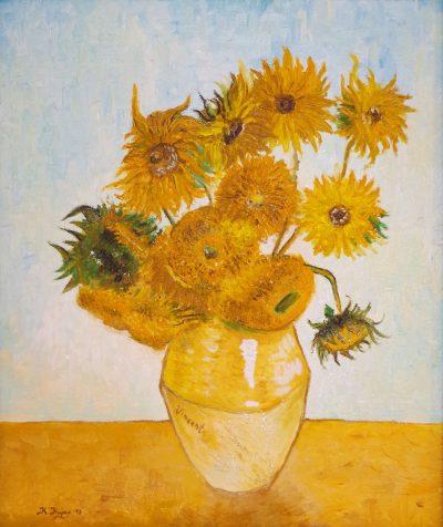 Karl Kujau Stilleben mit Sonnenblumen-2 1888 Vincent van Gogh