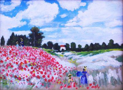 Karl Kujau Klatschmohn in der Gegend von Argenteuil Claude Monet